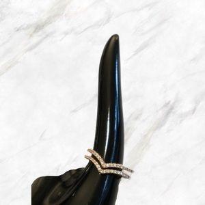 Jewelry - 4/$30 🌷 Adjustable Rose Gold Chevron Ring